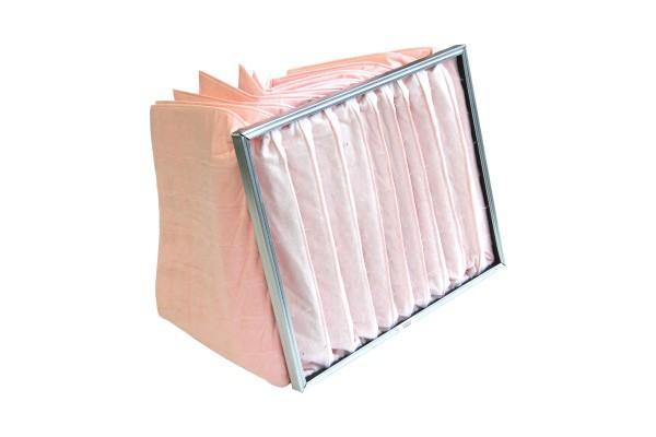 Taschenfilter für Airblock KG, mit 10 stehenden Taschen, Filterklasse F7