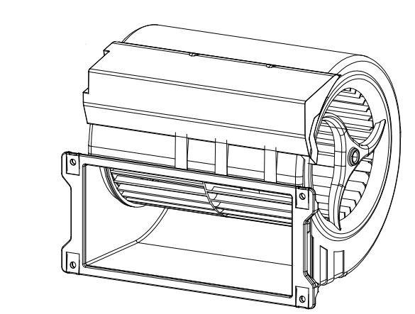 Gebläseeinheit für Fancoil, Baugröße 1-2 und 6* EC D3G146-LT13-43