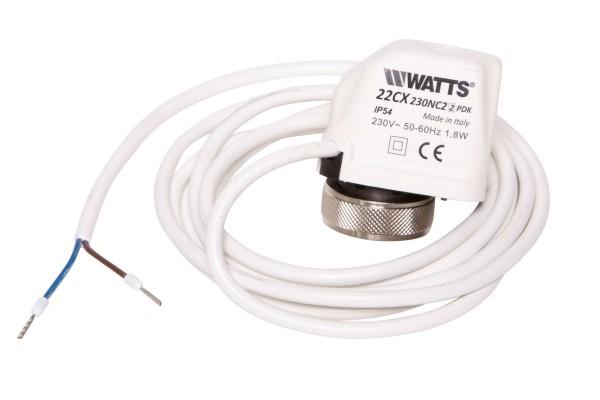 Thermoelektrischer Stellantrieb für Kaltwasserkassette KaCool D / KaCool W, 2-Pkt, 230V